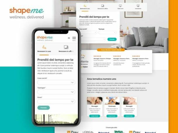 ShapeMe Sito Web Desktop
