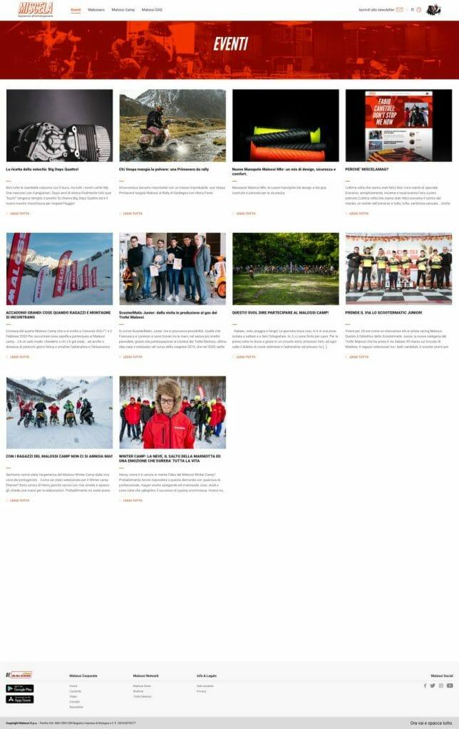 Miscela Magazine Sito Web Desktop 1