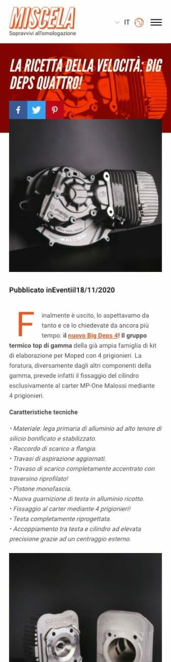 Miscela Magazine Sito Web Mobile 2