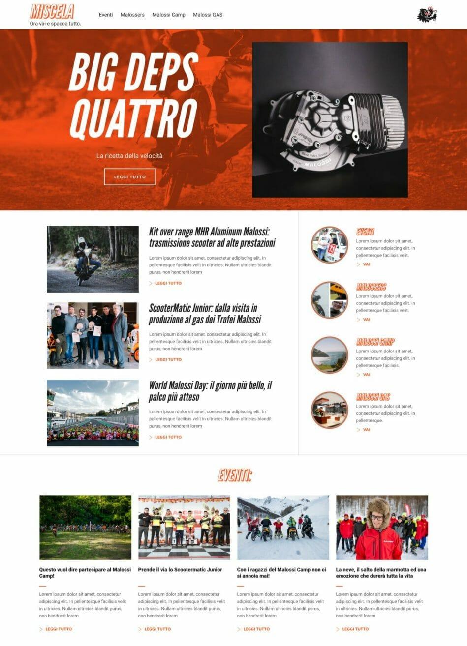 Miscela Magazine Sito Web Desktop