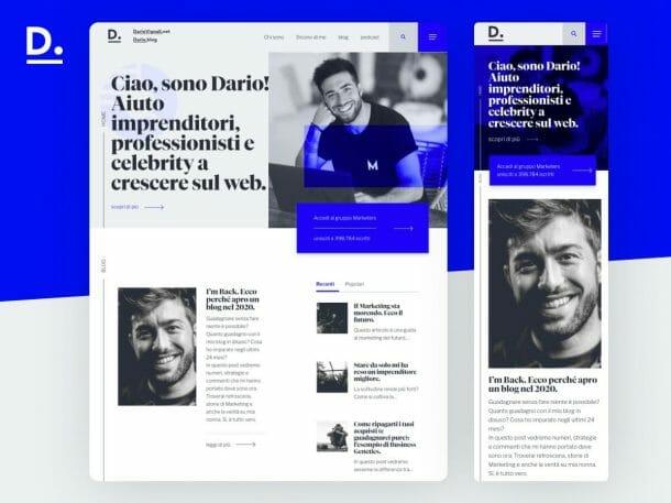 Dario Vignali Sito Web Responsive