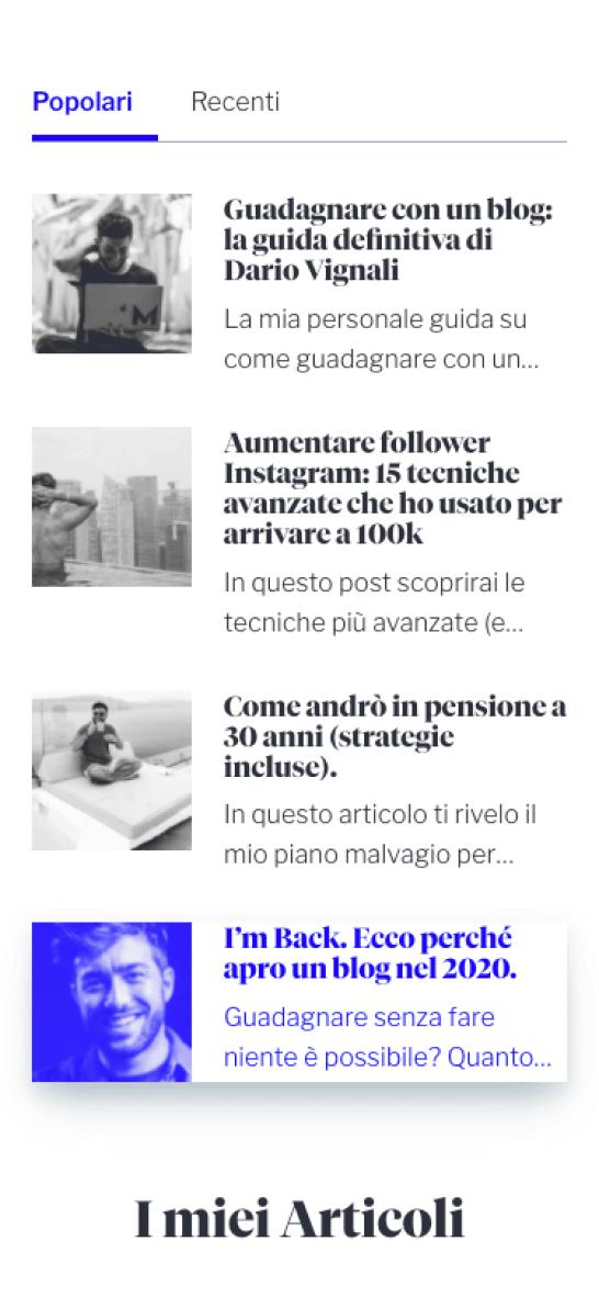 Dario Vignali Sito Web Mobile 3
