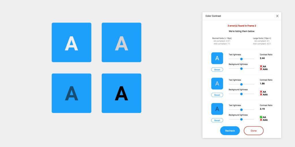 Figma Top Plugin Color Contrast Checker